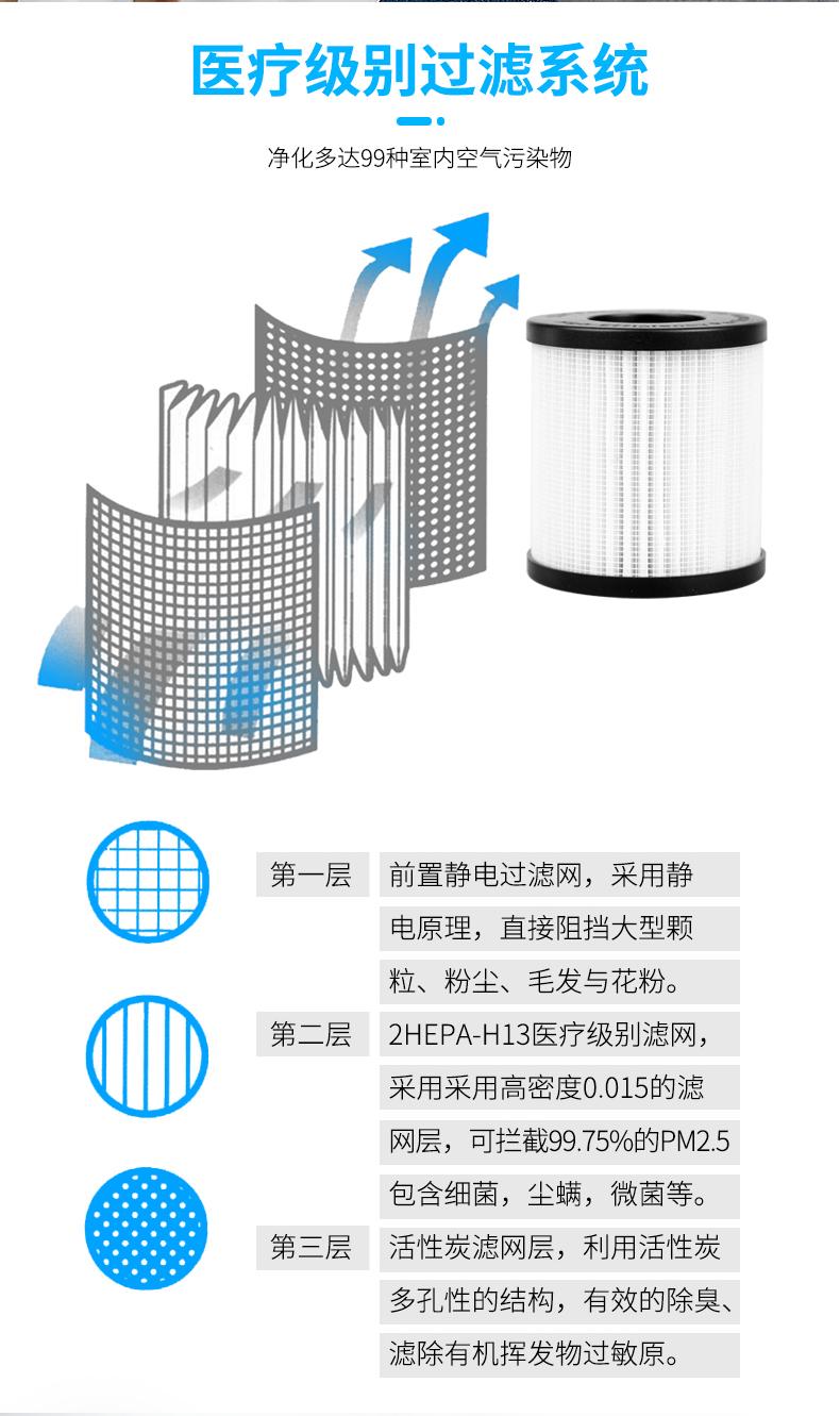 CKJU便携式杀菌空气净化器厂家一手货源批发